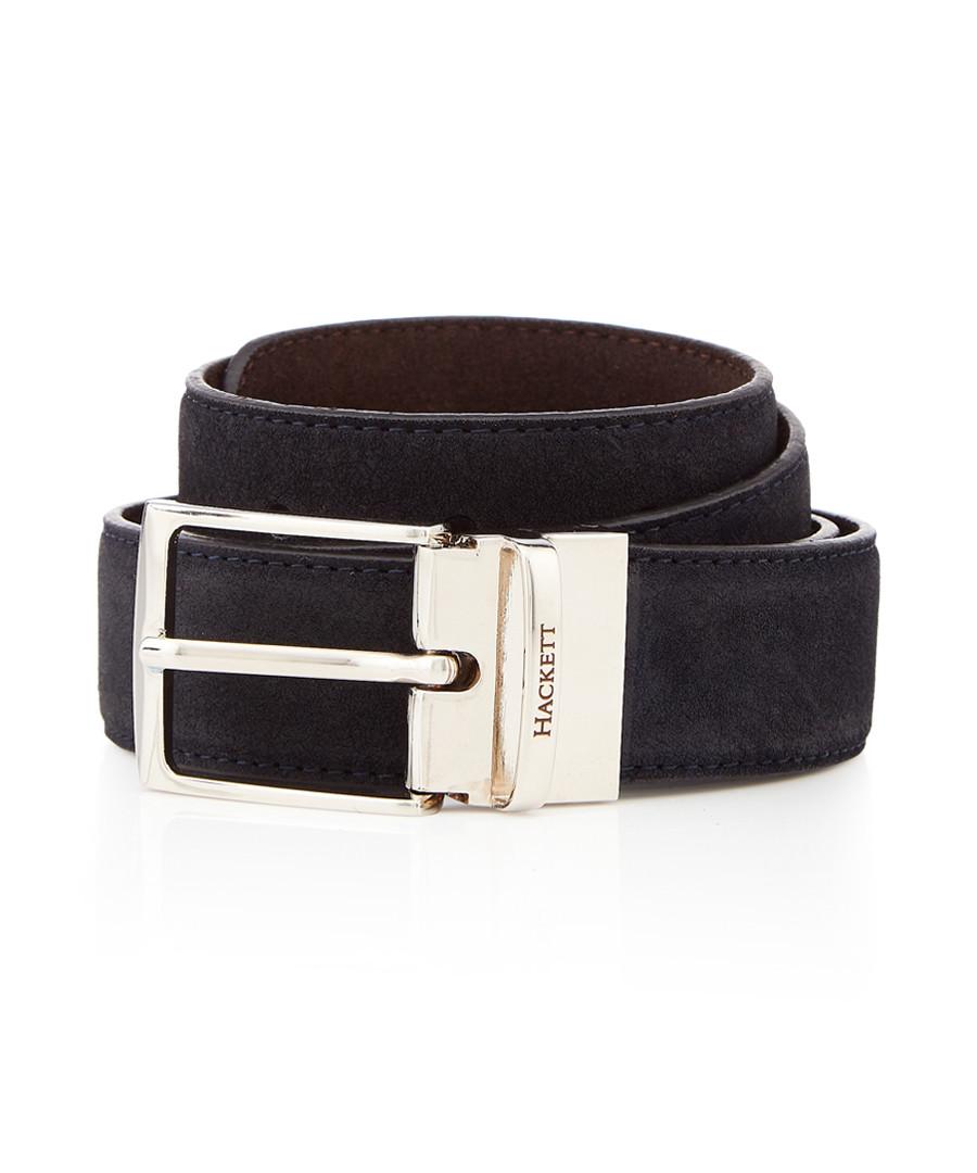 Navy & brown suede reversible belt Sale - hackett