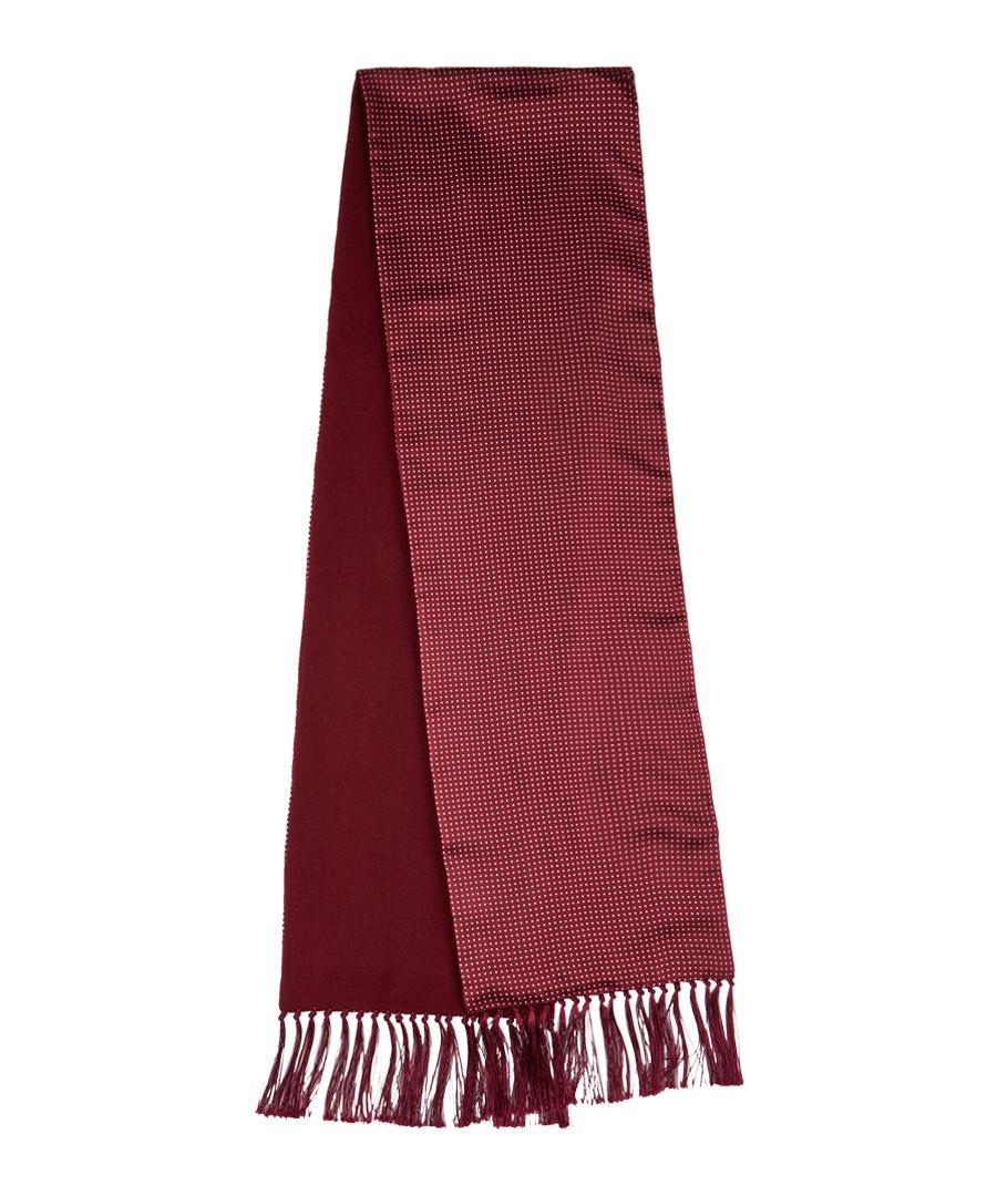 Crimson silk & cashmere scarf Sale - hackett