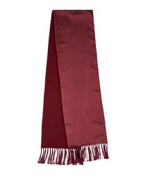 Crimson silk & cashmere scarf