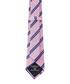 Pink & blue pure silk stripe tie Sale - hackett Sale