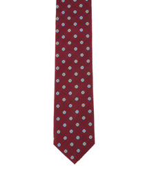 Wine pure silk flower tie