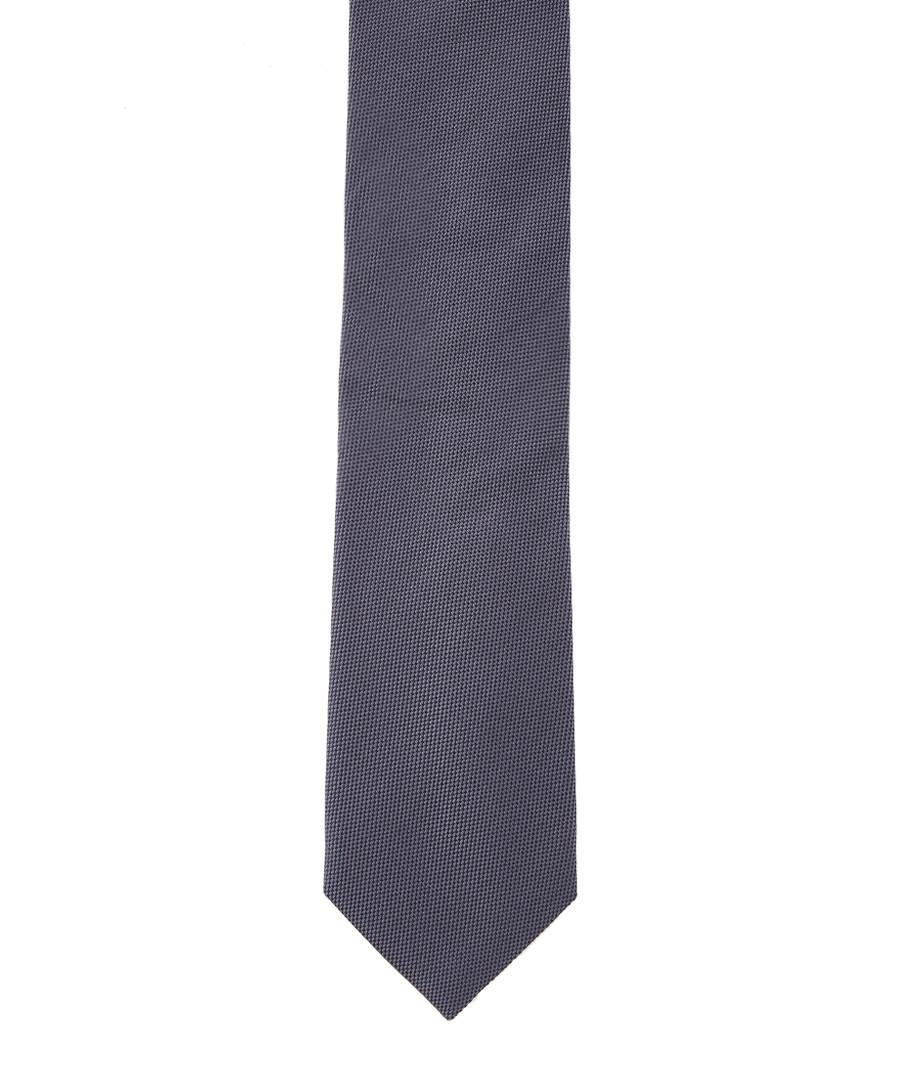 Oxford Weave grey pure silk tie Sale - hackett