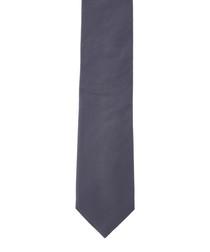 Oxford Weave grey pure silk tie