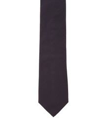 Oxford Weave black pure silk tie