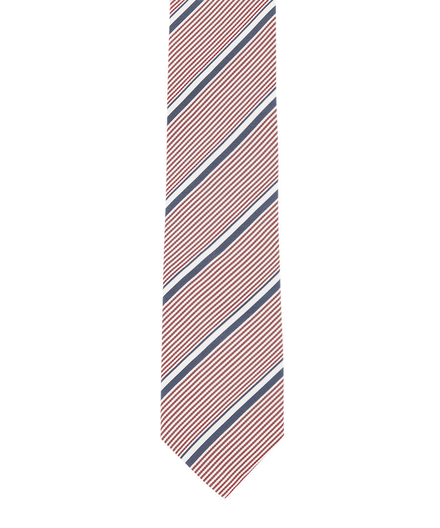Bengal red & blue pure silk tie Sale - hackett