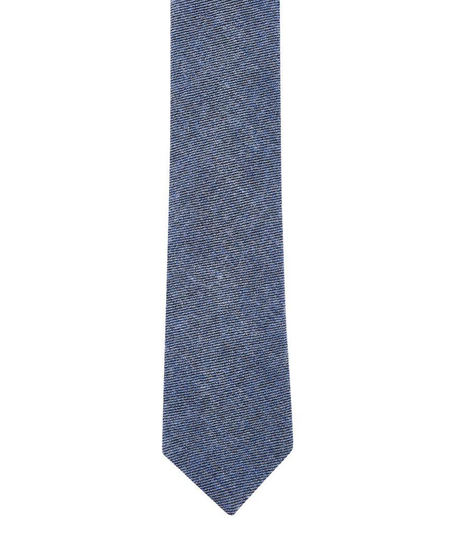 Blue wool & silk tie Sale - hackett