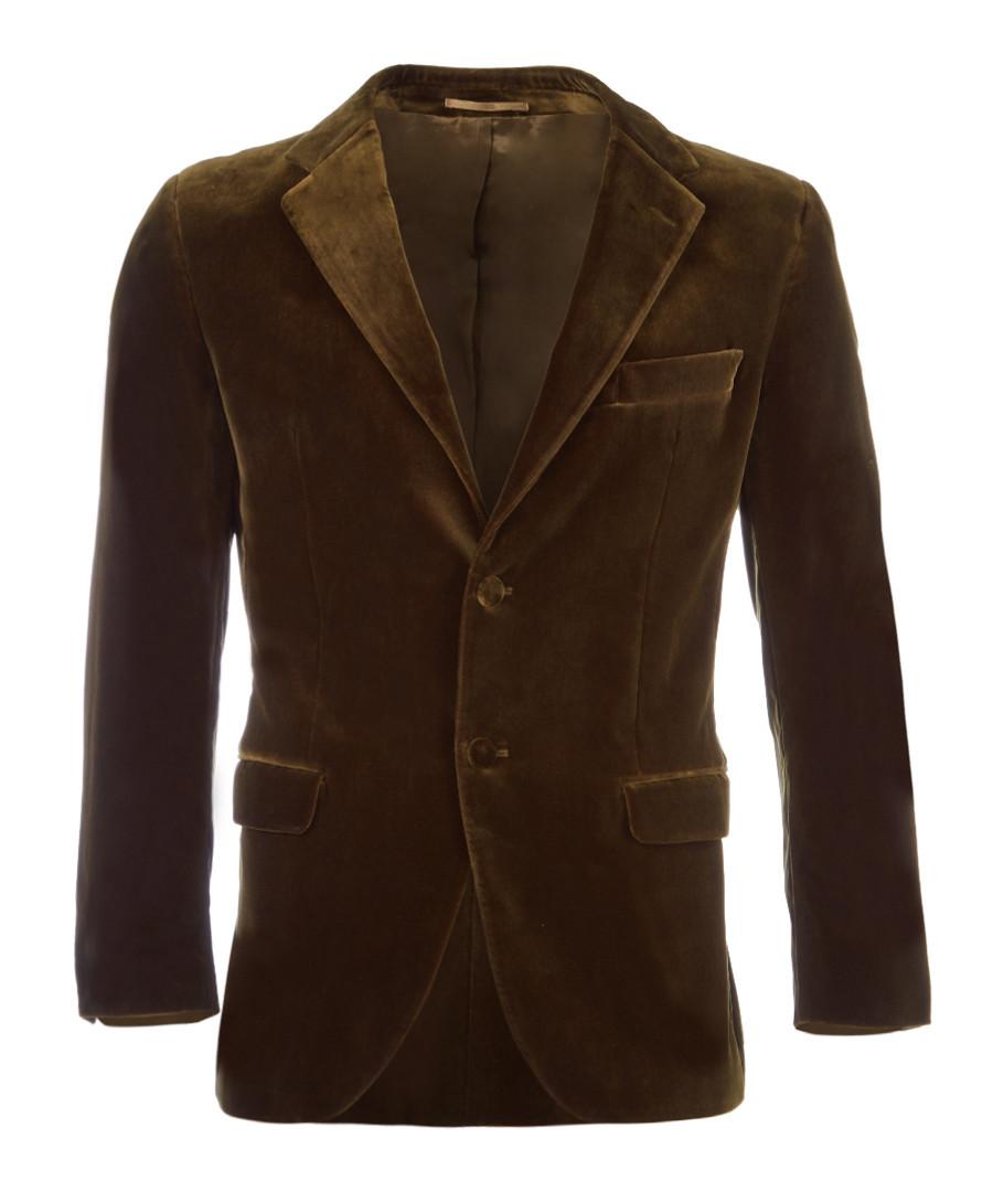 Olive velveteen jacket Sale - hackett