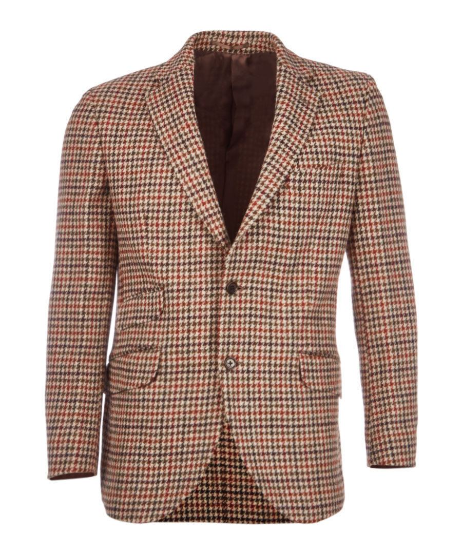 Country tan pure wool houndstooth jacket Sale - hackett