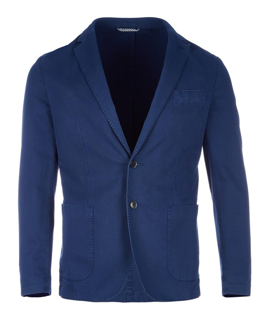 Blue cotton jacket Sale - hackett