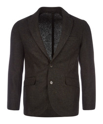 Forrest green pure wool jacket