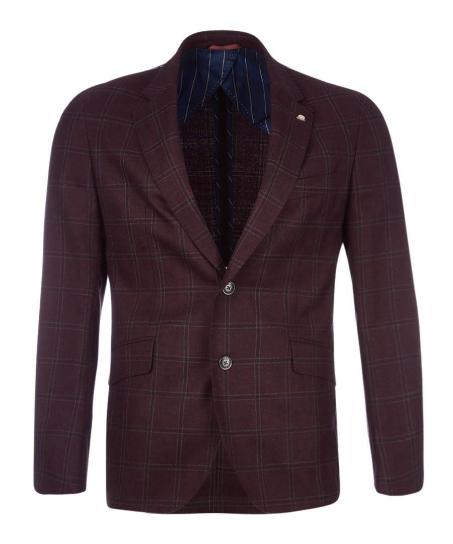 Burgundy pure wool jacket Sale - hackett
