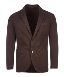 Garment brown cotton jacket