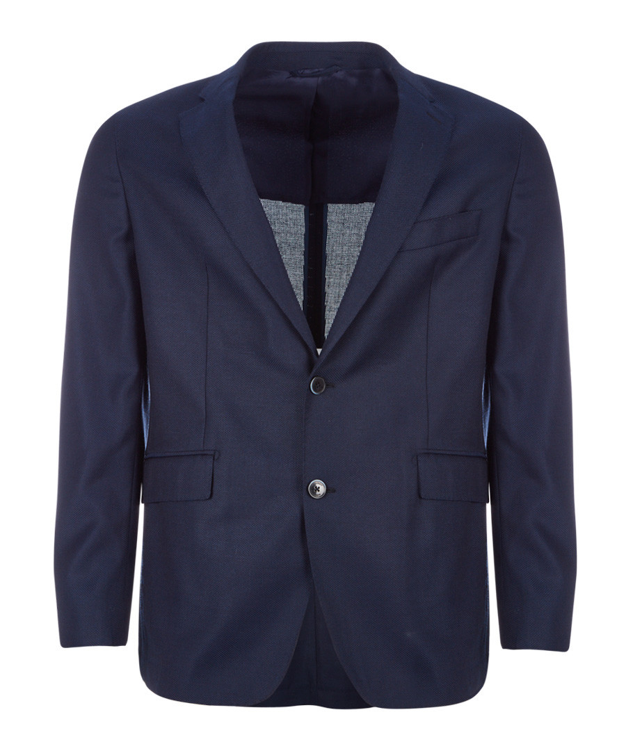 Bright navy pure wool jacket Sale - hackett