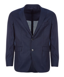 Bright navy pure wool jacket
