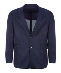 Bright navy pure wool jacket