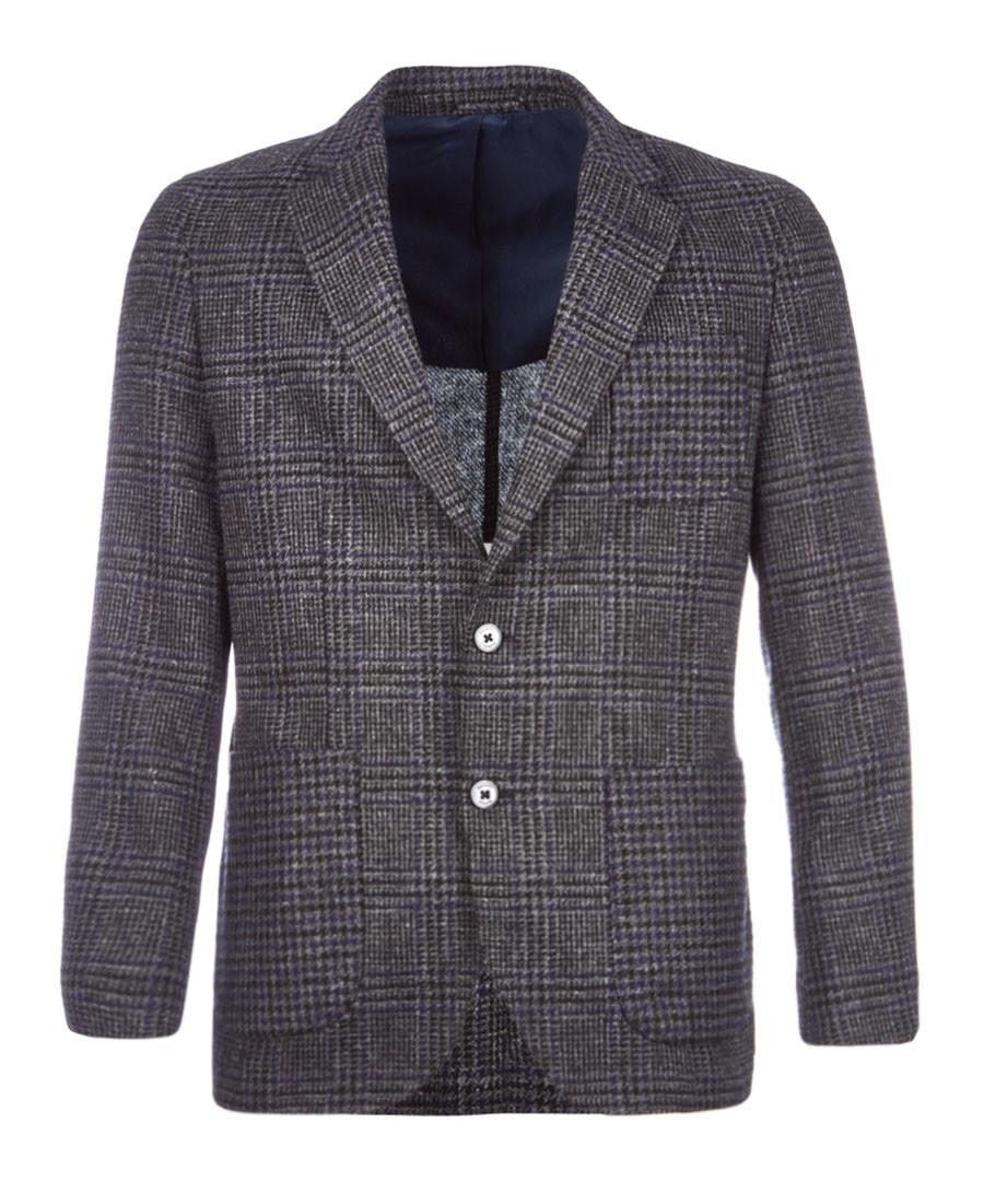 Glen check pure wool jacket Sale - hackett