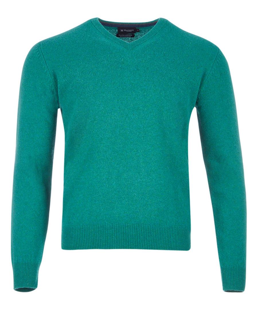 Sea green pure wool jumper Sale - hackett