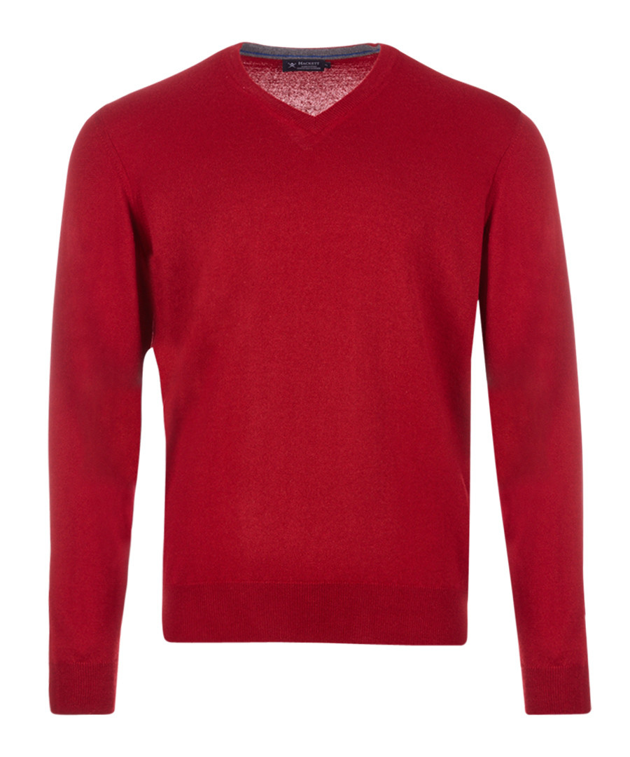 Cherry wool, silk & cashmere jumper Sale - hackett