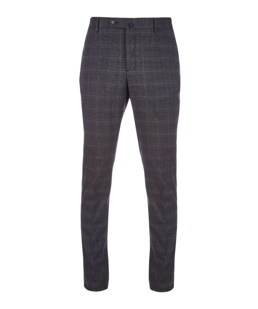 Grey check formal trousers Sale - hackett