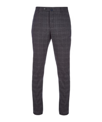 Grey check formal trousers