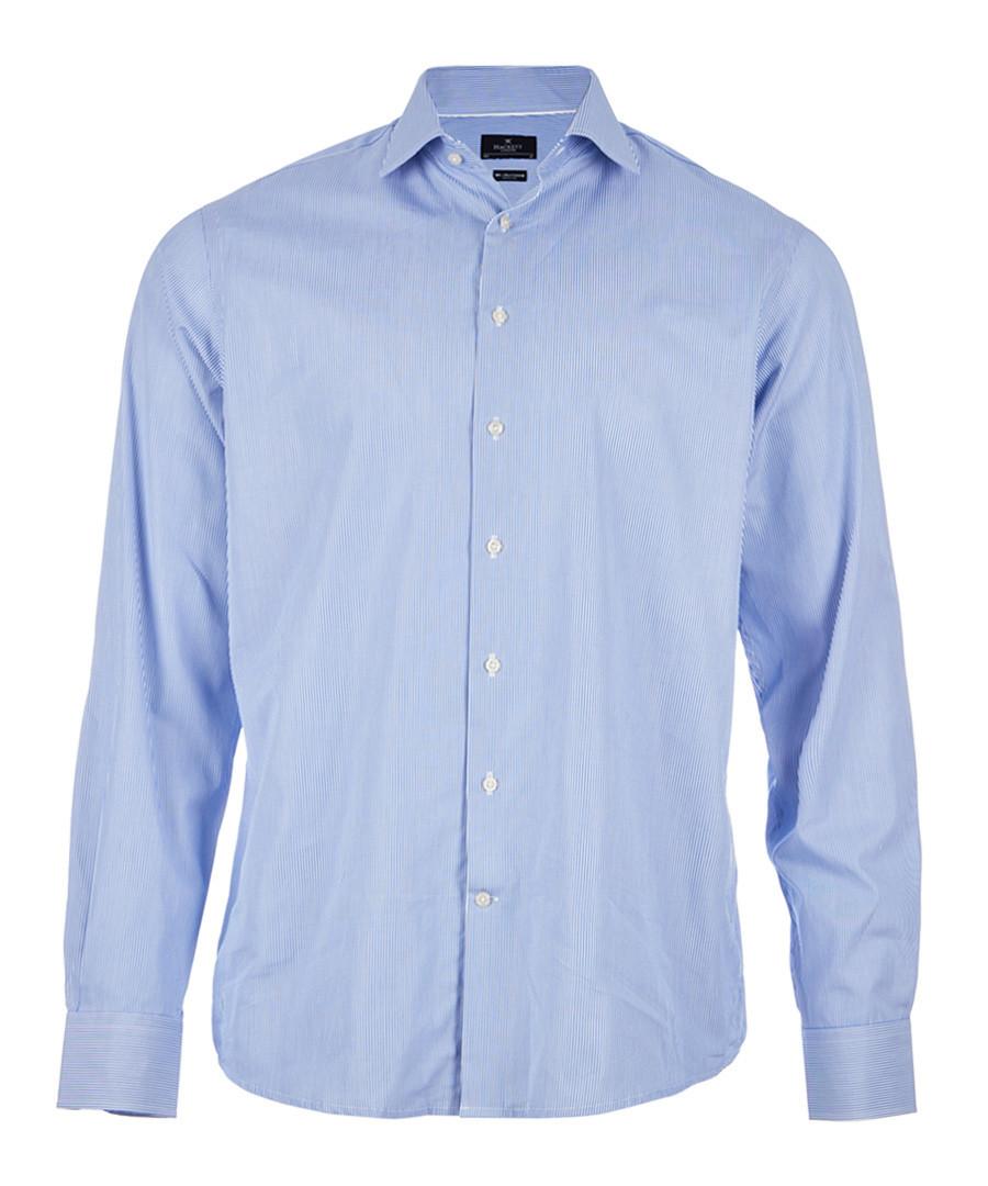 Blue pure cotton long sleeve shirt Sale - hackett