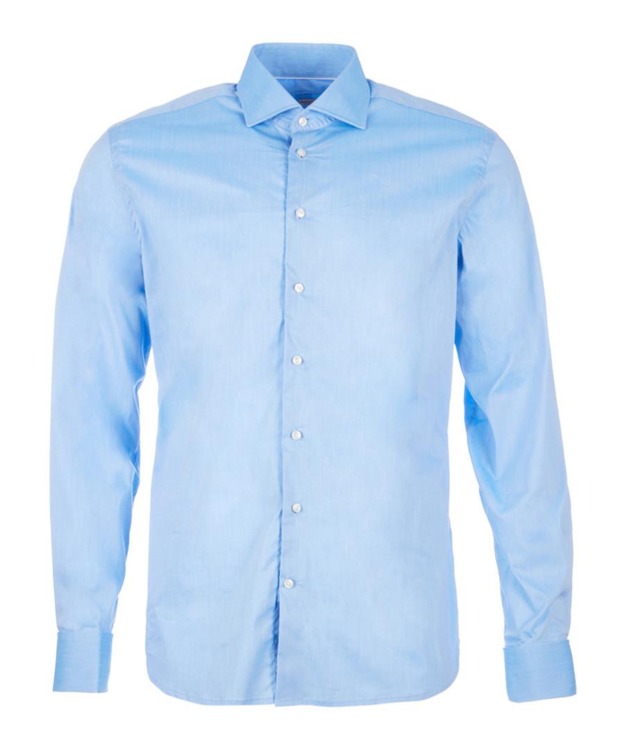 Sky cotton long sleeve shirt Sale - hackett