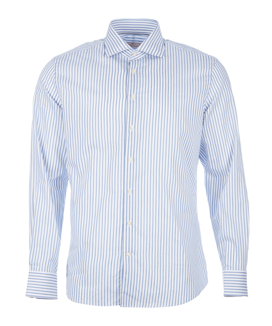 Striped pure cotton long sleeve shirt Sale - hackett