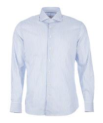 Striped pure cotton long sleeve shirt
