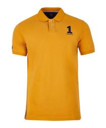 Gold pure cotton polo shirt