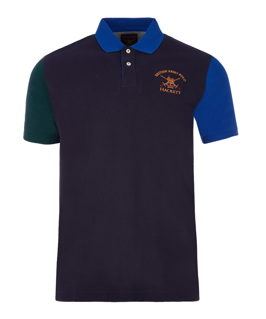 Navy pure cotton polo shirt Sale - hackett