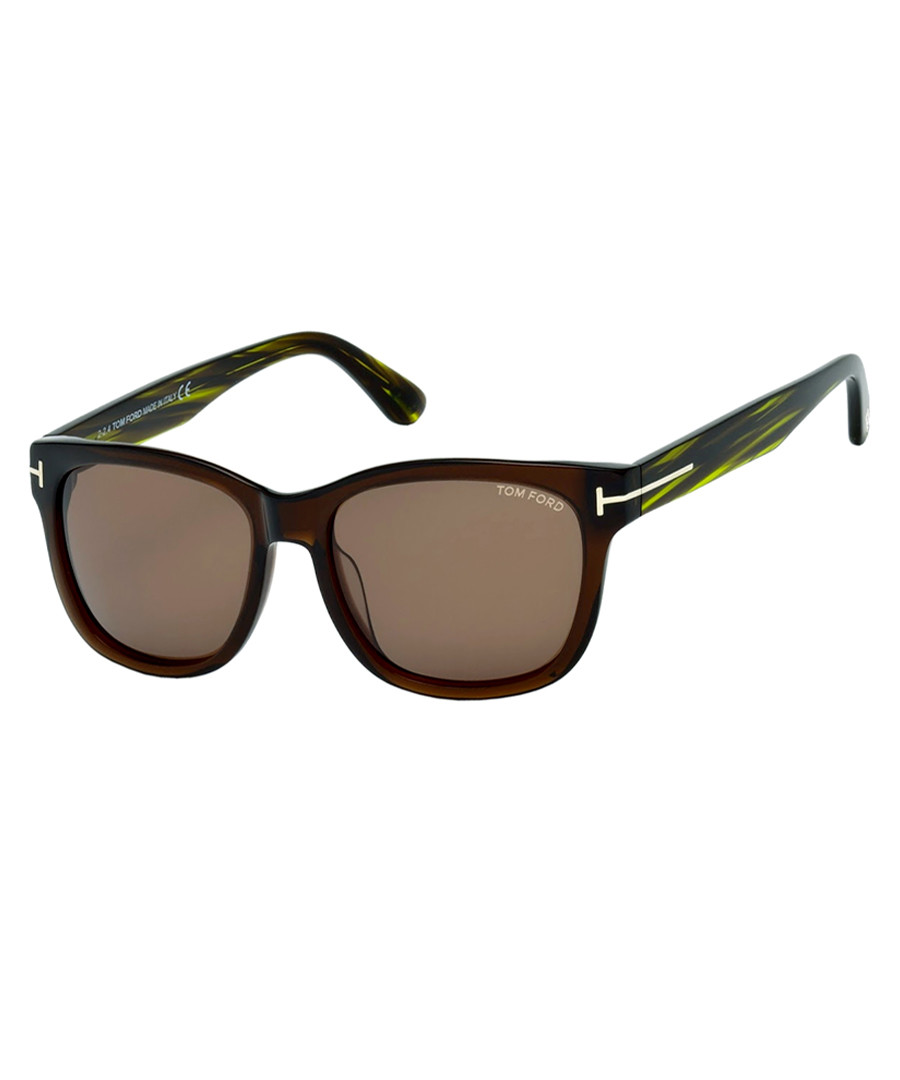 Cooper dark brown & green sunglasses Sale - Tom Ford