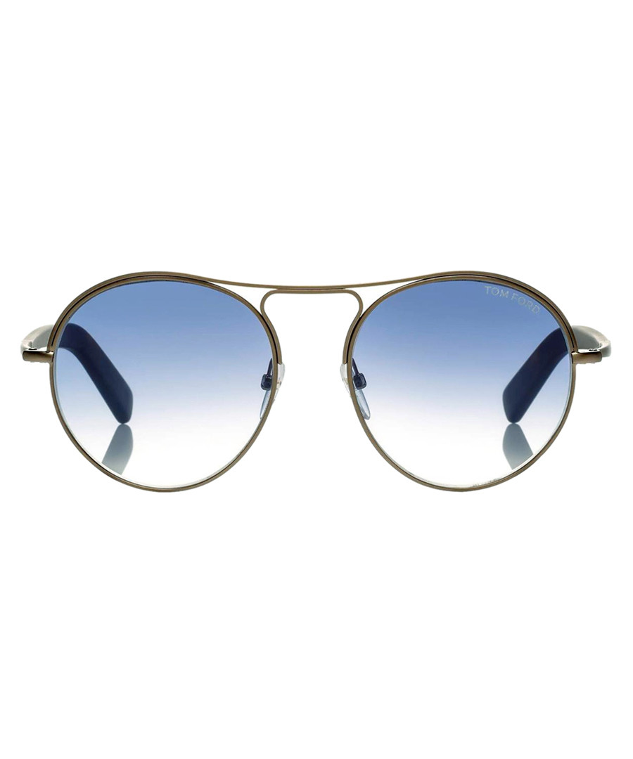 Jessie brown & blue sunglasses Sale - tom ford