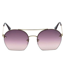 Antonia rose gold-tone & pink sunglasses