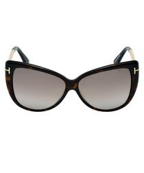 Reveka dark havana mirror sunglasses