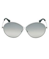 Rania-02 silver-tone & grey sunglasses