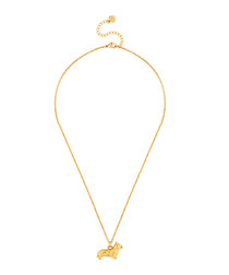14ct yellow gold-plated corgi necklace