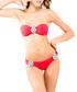 2pc Helen coral embellished bikini set Sale - lavishly appointed swim Sale