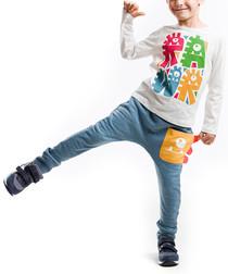2pc monster cotton blend outfit set