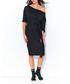Black one-shoulder cotton blend dress Sale - numinou Sale