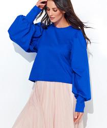 Cornflower cotton blend jumper