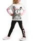 2pc rabbit print cotton blend outfit set Sale - Denokids Sale