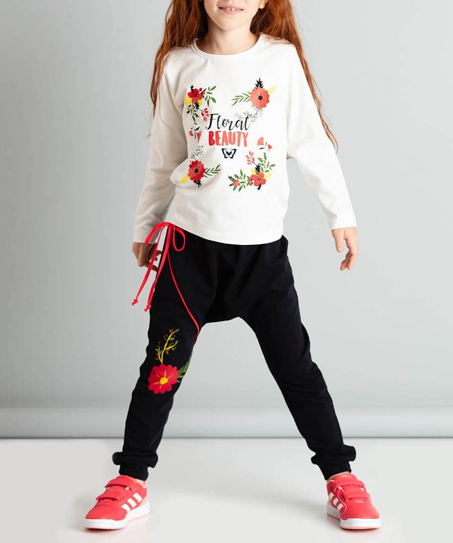 2pc floral print cotton blend outfit set Sale - ollie&olla