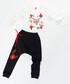 2pc floral print cotton blend outfit set Sale - ollie&olla Sale