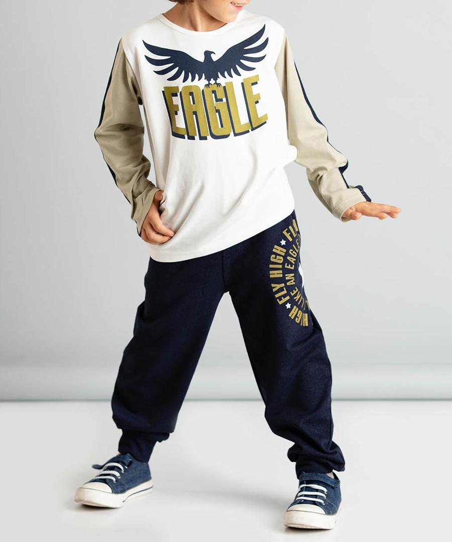 2pc eagle print cotton blend outfit set Sale - ollie&olla