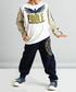 2pc eagle print cotton blend outfit set Sale - ollie&olla Sale