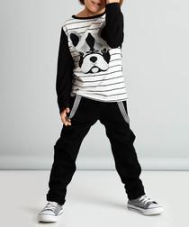 2pc dog print cotton blend outfit set
