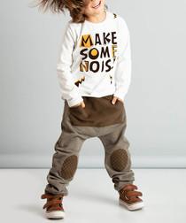 2pc noise print cotton blend outfit set