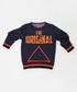 Navy & orange slogan cotton blend jumper Sale - ollie&olla Sale