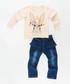 2pc rabbit print cotton blend outfit set Sale - ollie&olla Sale
