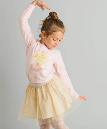2pc ballet theme cotton blend outfit set
